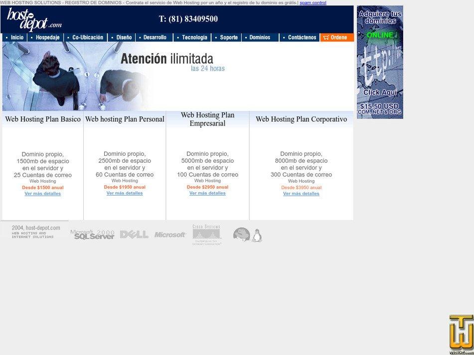 host-depot.com Screenshot