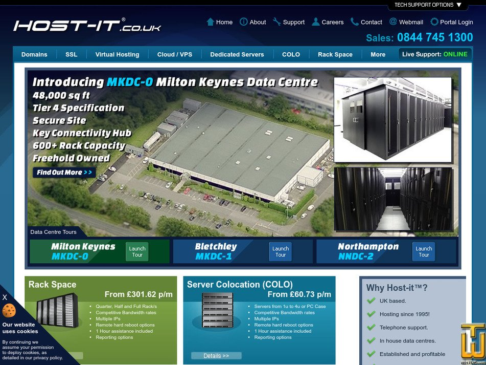 host-it.co.uk Screenshot