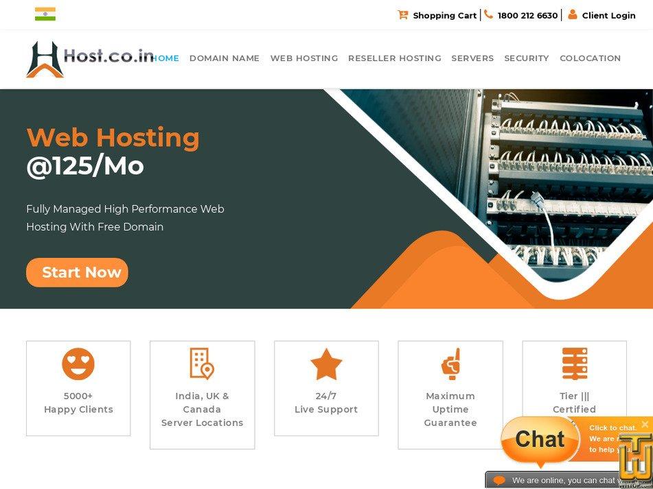 host.co.in screenshot