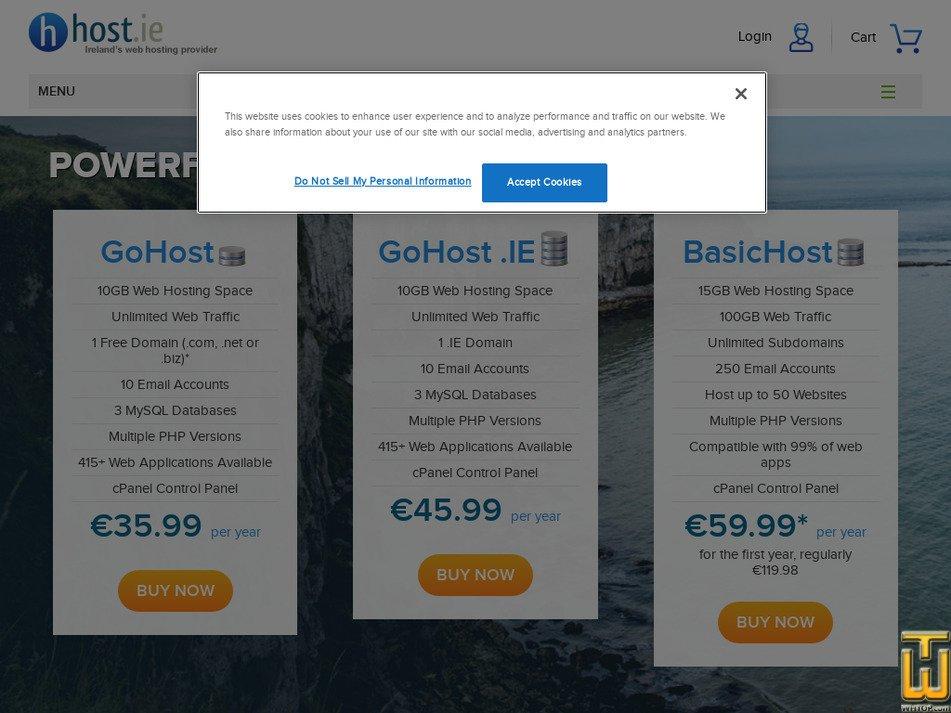 host.ie screenshot