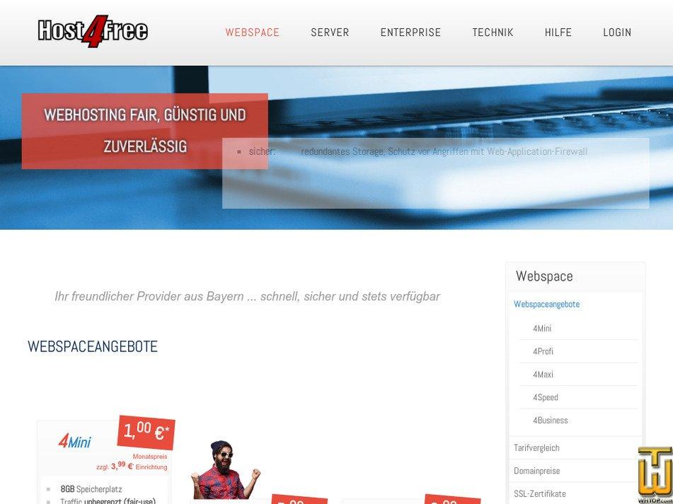 host4free.de Screenshot