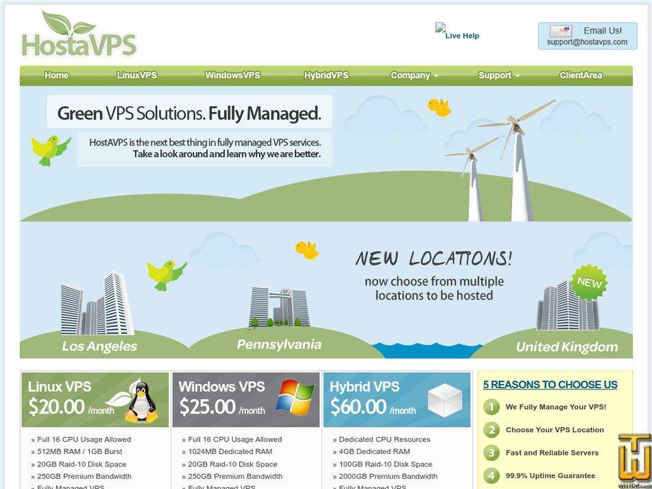 hostavps.com Screenshot