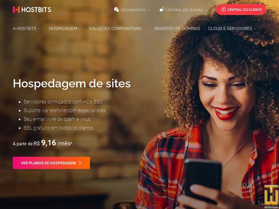 hostbits.com.br Screenshot