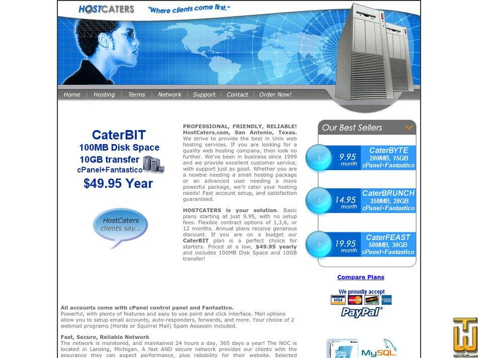 hostcaters.com Screenshot
