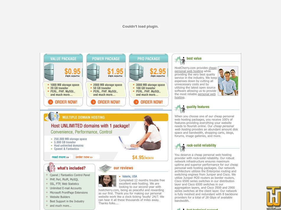 hostcherry.com Screenshot