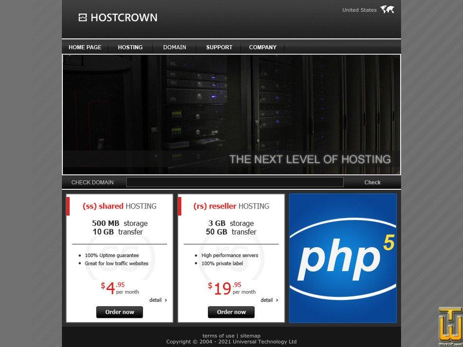 hostcrown.com Screenshot