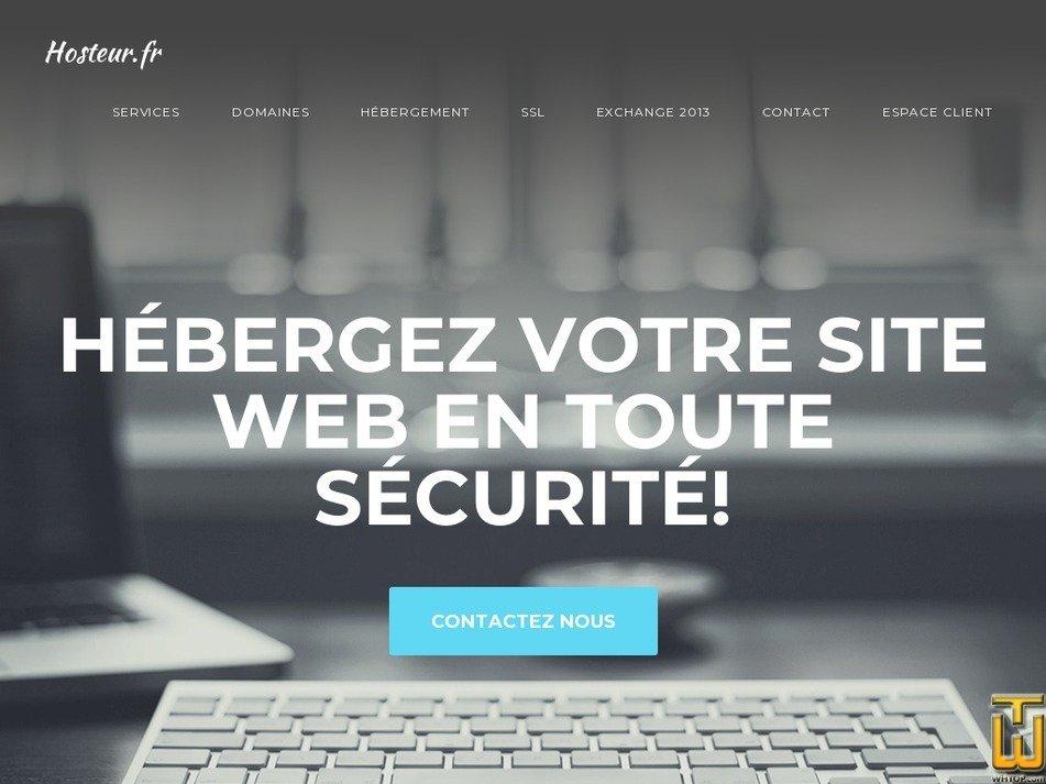 hosteur.fr Screenshot