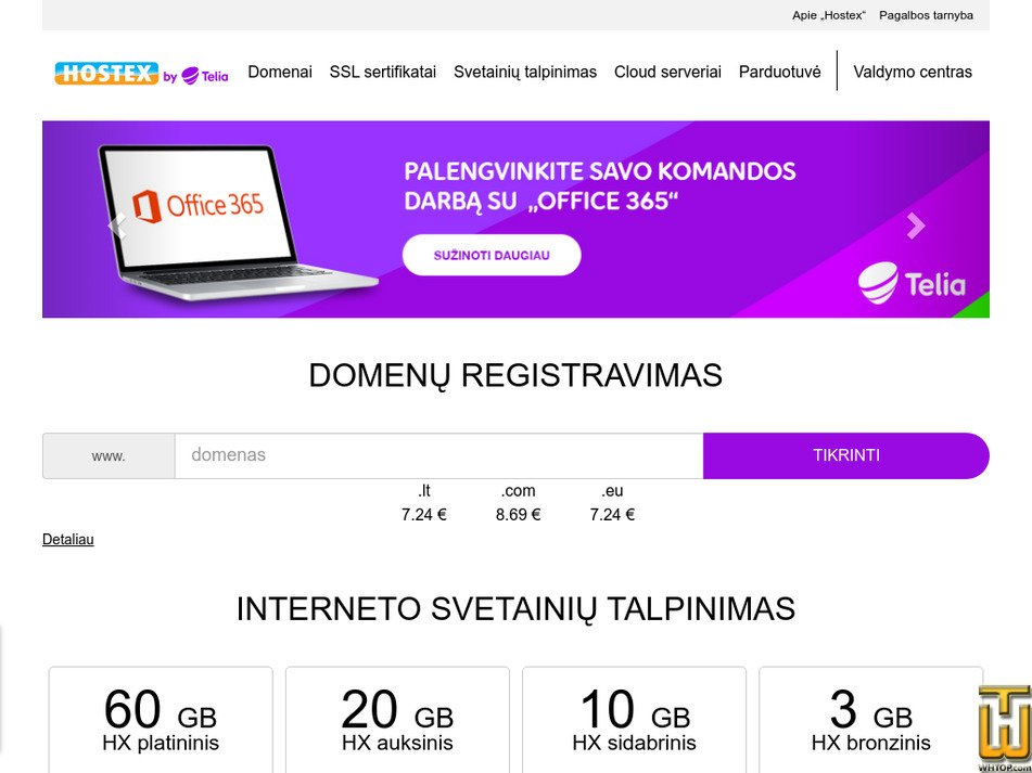 hostex.lt Screenshot