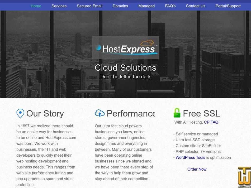 hostexpress.com Screenshot