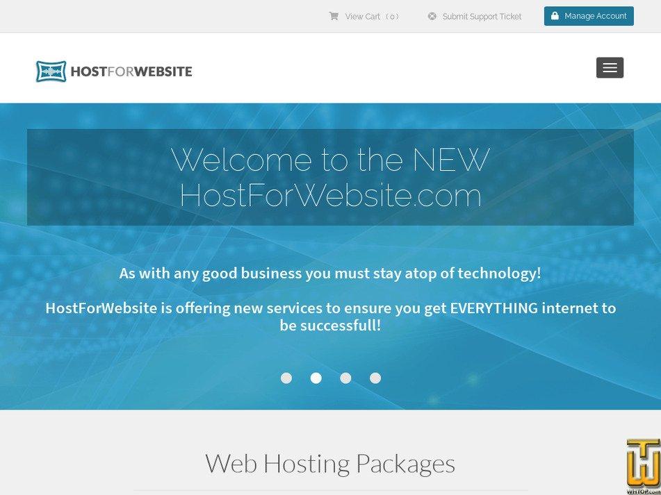 hostforwebsite.com Screenshot