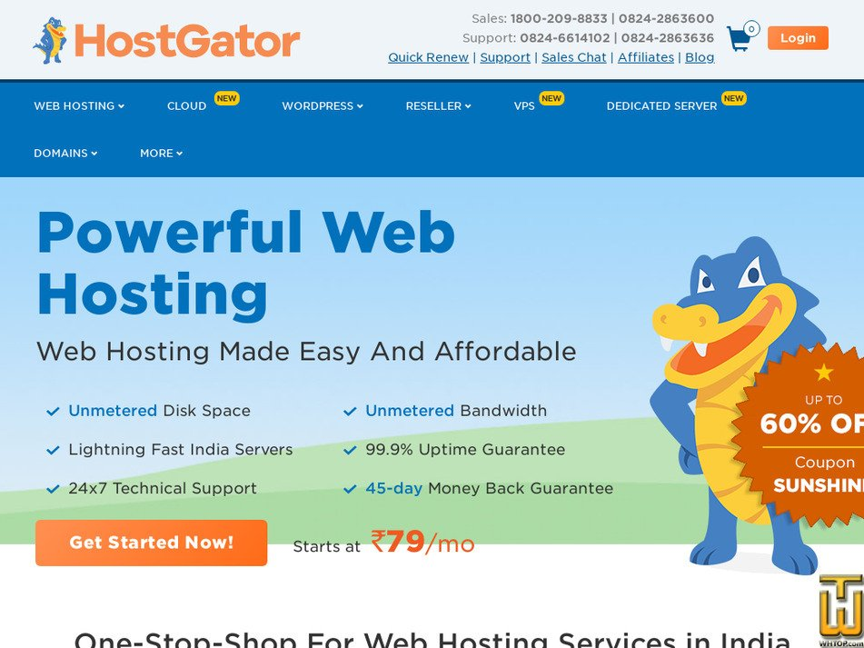 hostgator.in screenshot