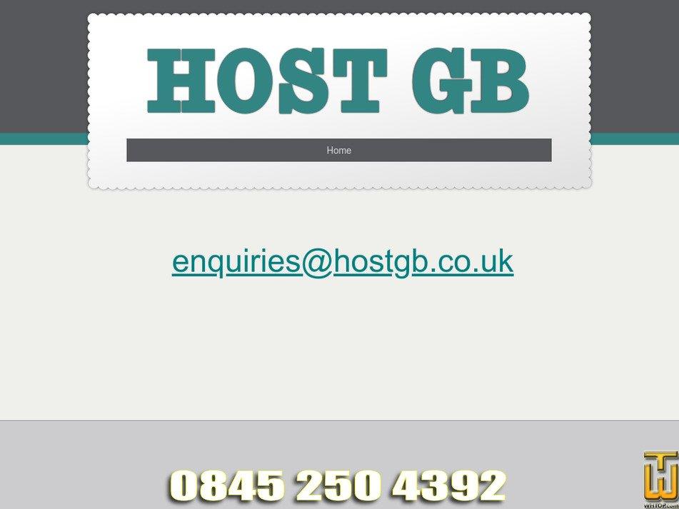 hostgb.co.uk Screenshot