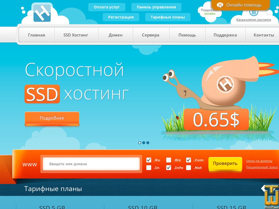 hostia.ru Screenshot