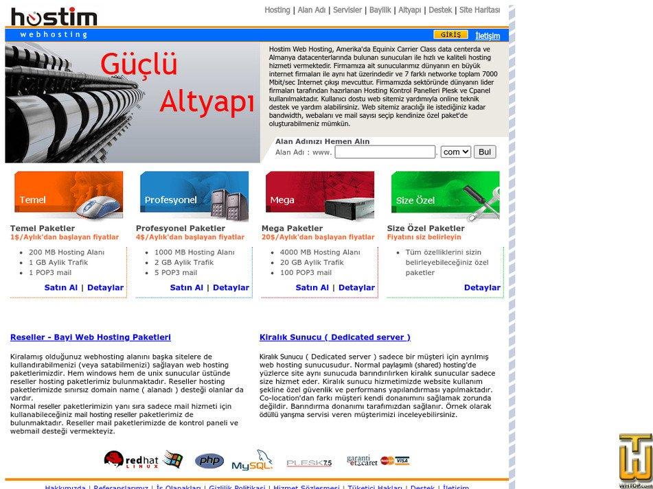 hostim.com.tr Screenshot