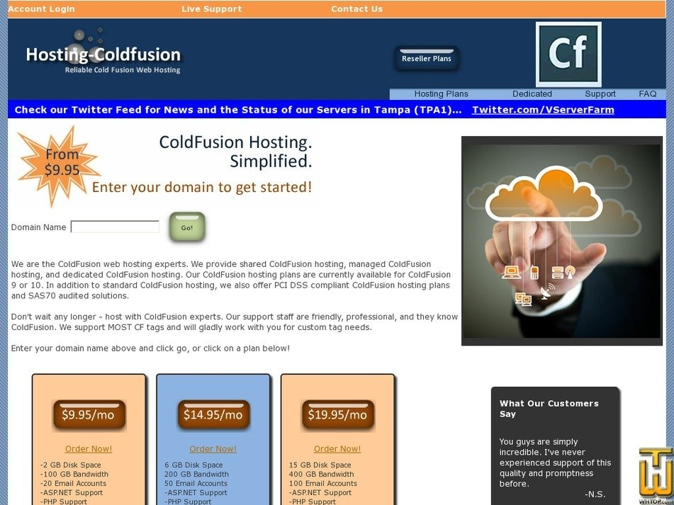 hosting-coldfusion.com Screenshot