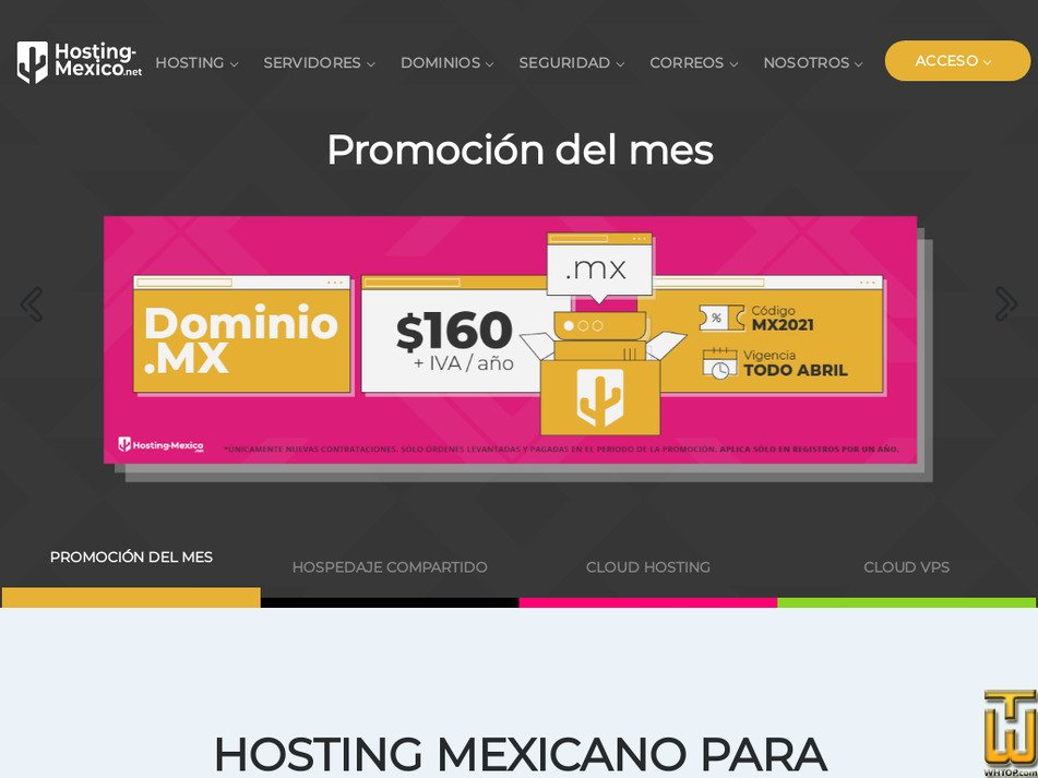 hosting-mexico.net Screenshot