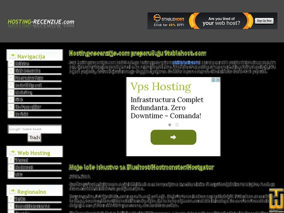hosting-recenzije.com Screenshot