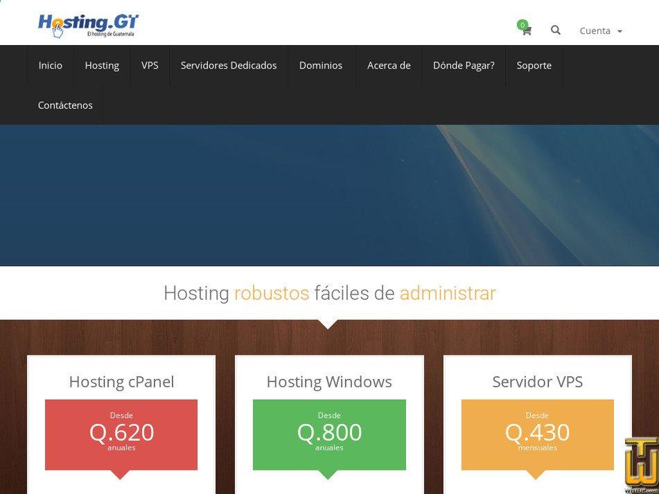 hosting.gt Screenshot