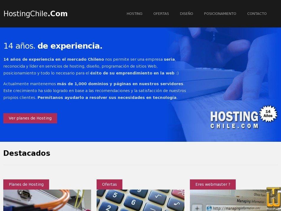 hostingchile.com Screenshot