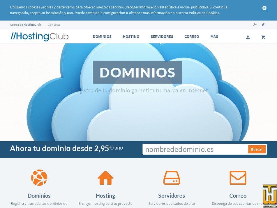 hostingclub.es Screenshot