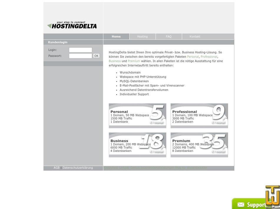 hostingdelta.at Screenshot