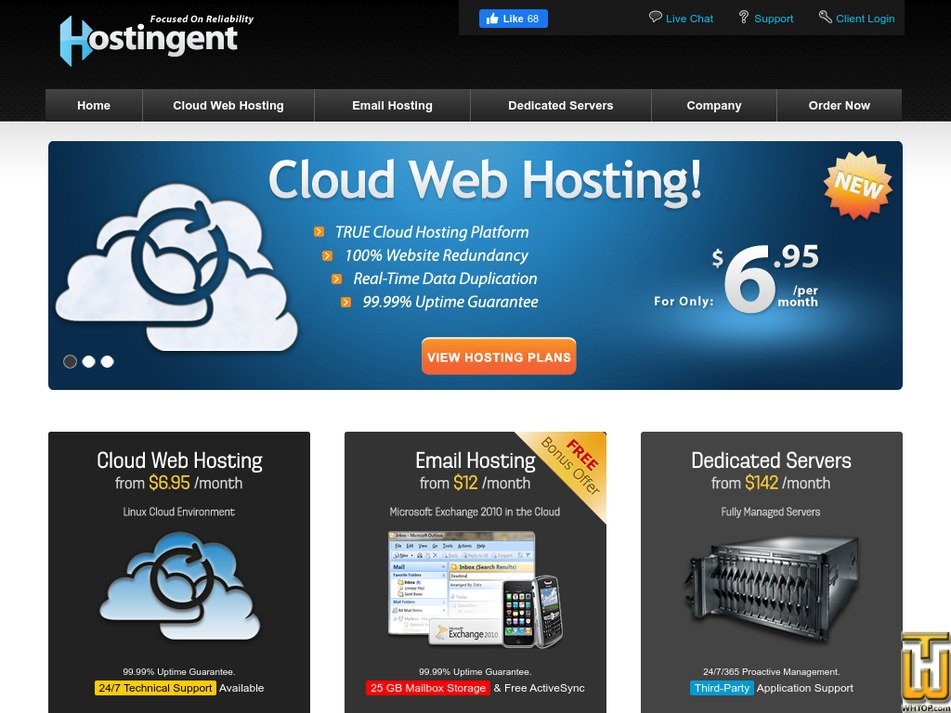 hostingent.com Screenshot