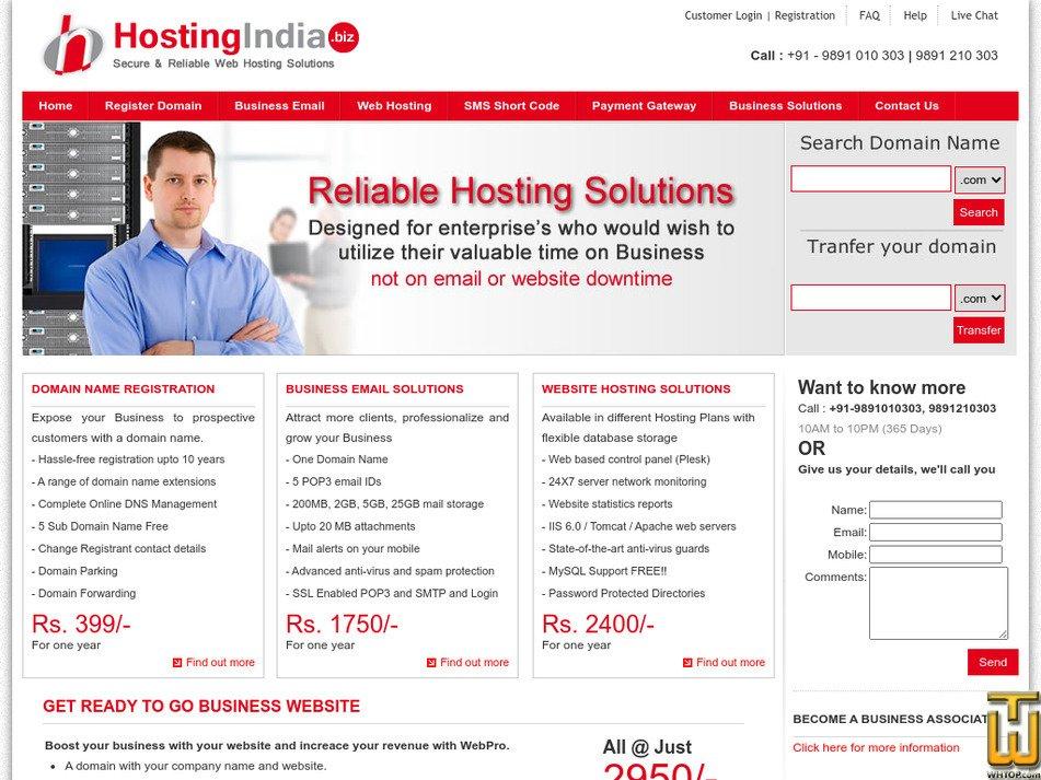 hostingindia.biz Screenshot