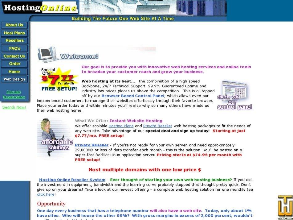 hostingonline.com Screenshot