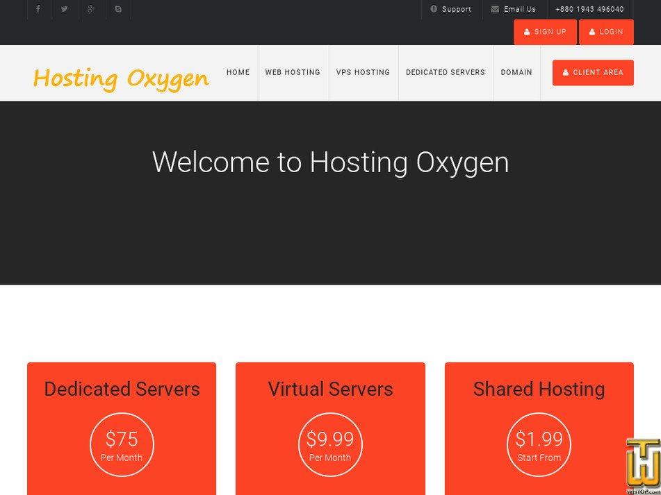 hostingoxygen.com Screenshot