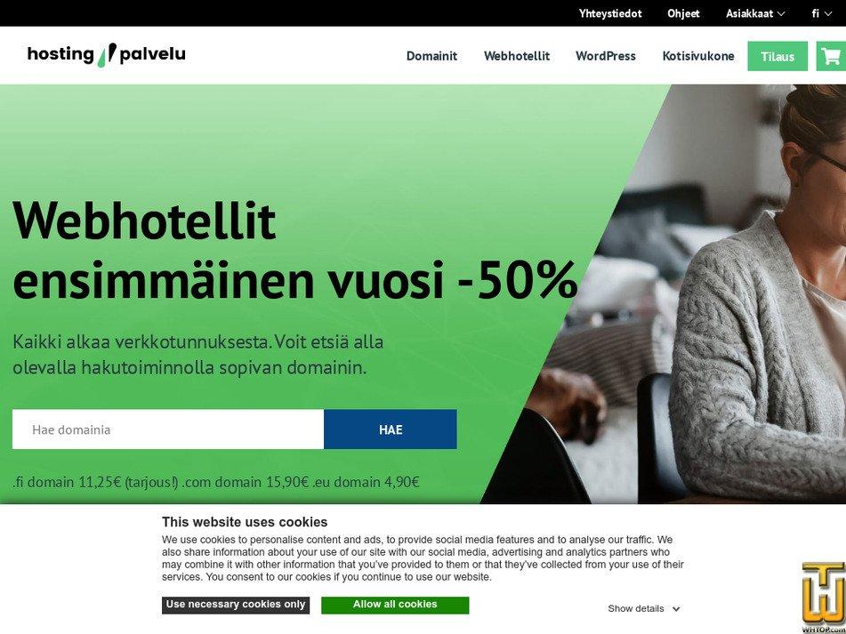 hostingpalvelu.fi Screenshot