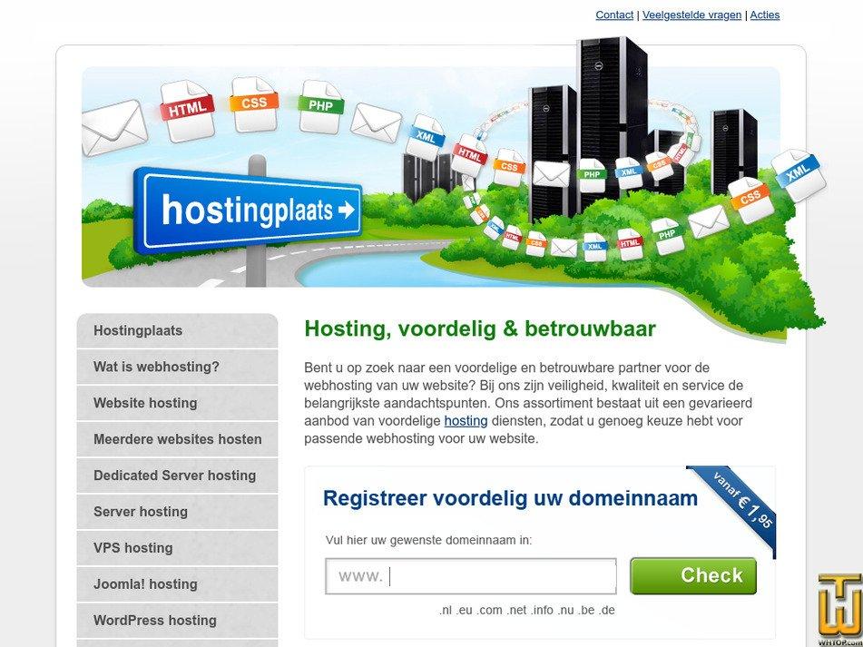 hostingplaats.nl Screenshot