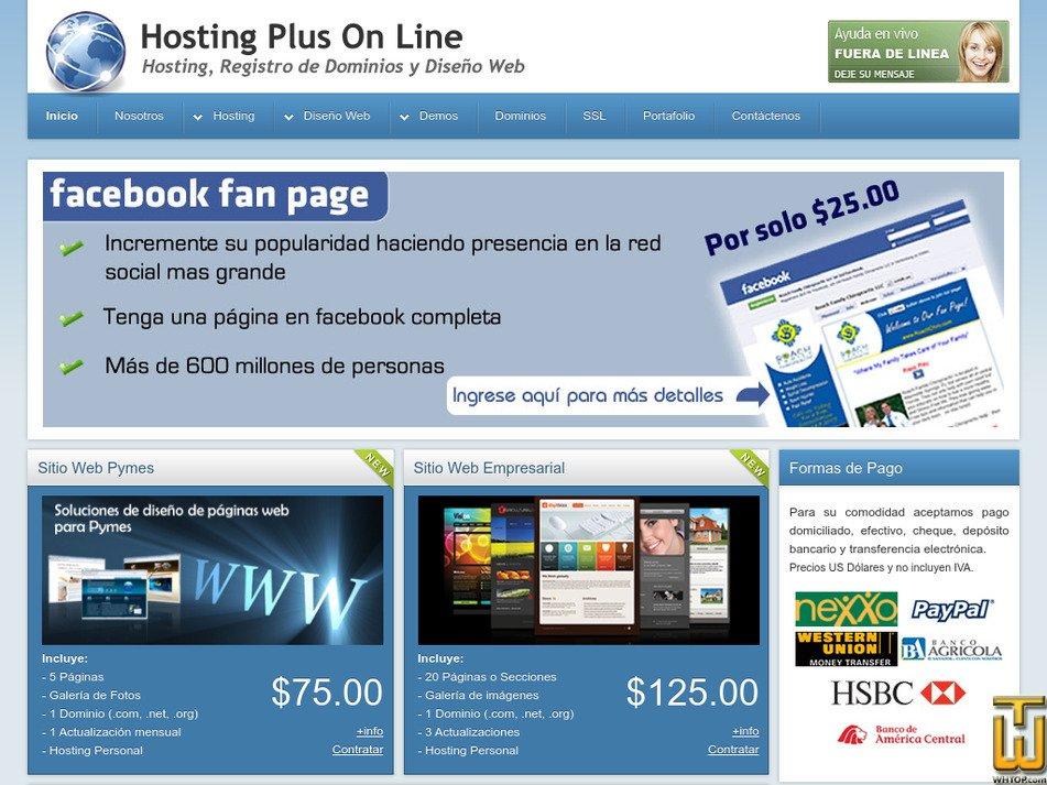 hostingplusonline.com Screenshot