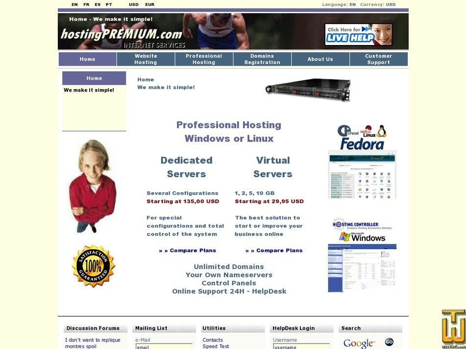 hostingpremium.com Screenshot