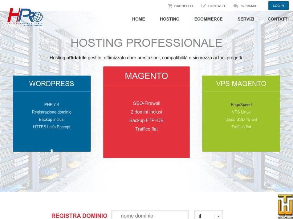 hostingprofessionale.net Screenshot