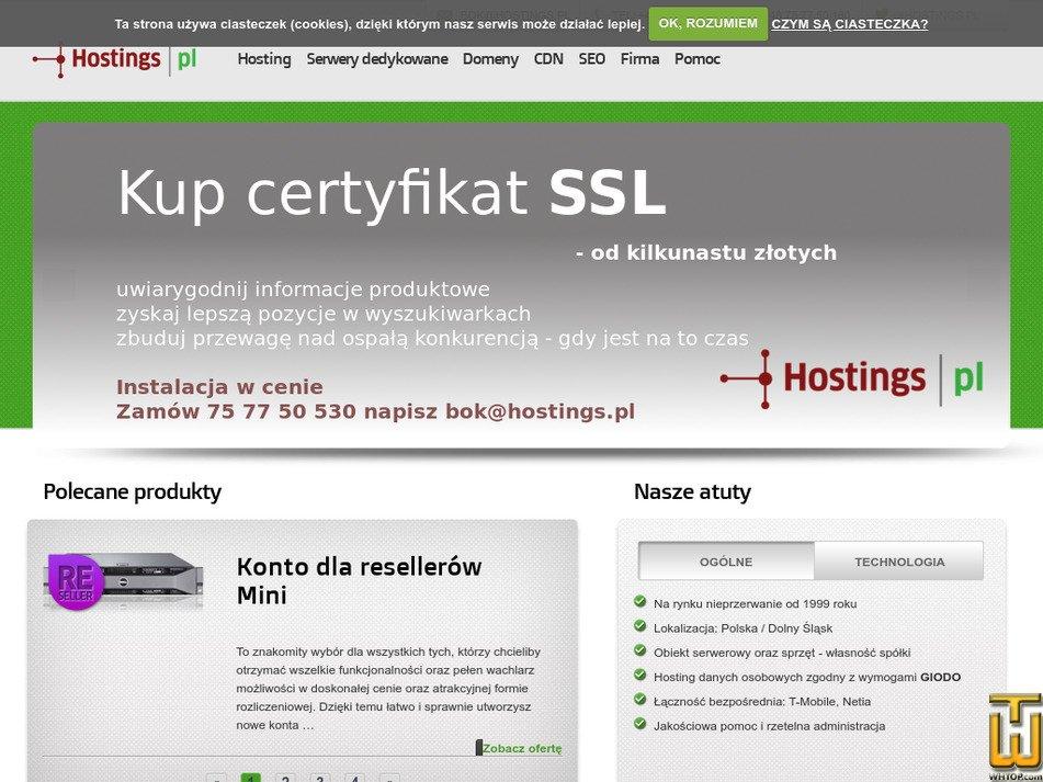 hostings.pl Screenshot