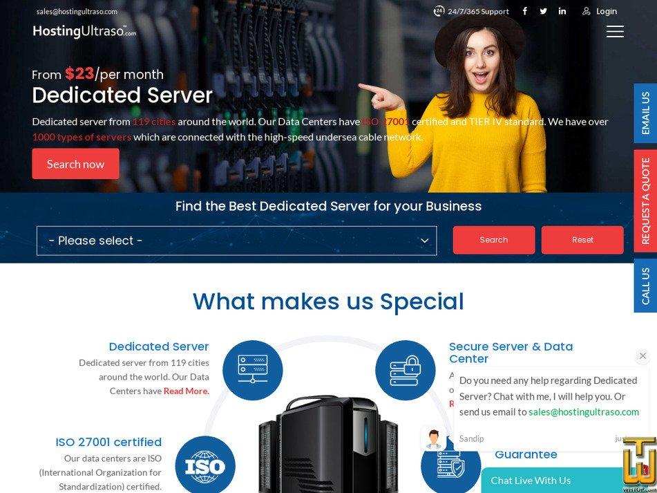 hostingultraso.com Screenshot