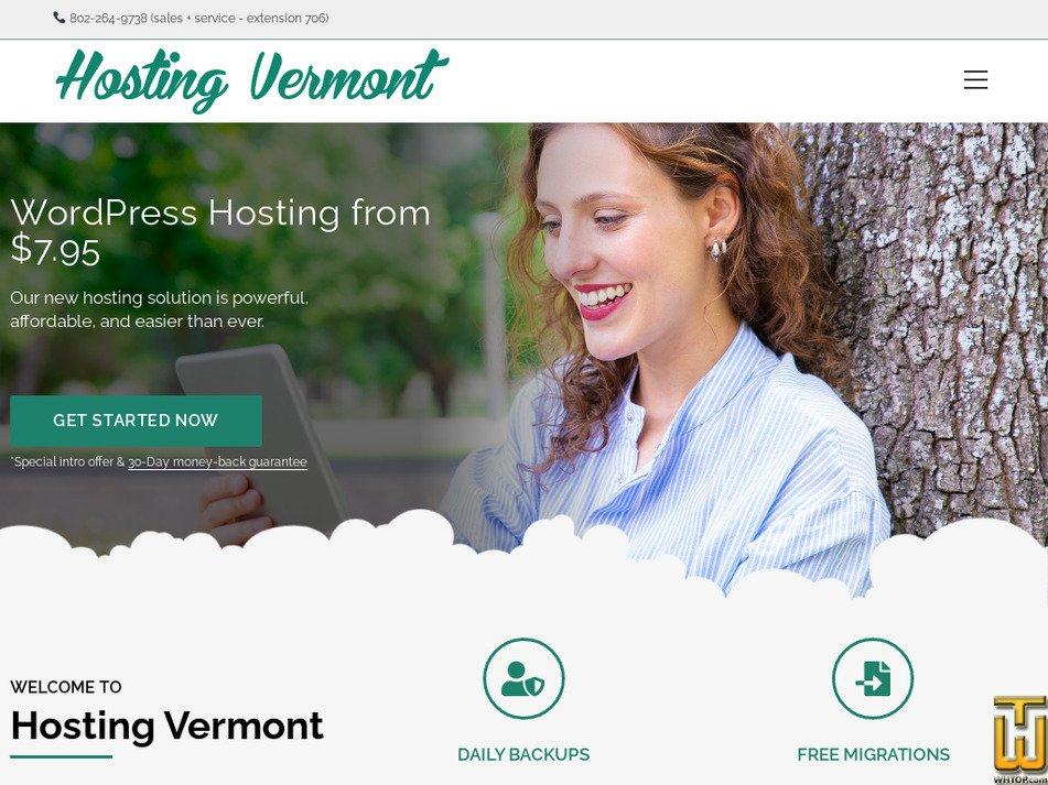 hostingvermont.com Screenshot