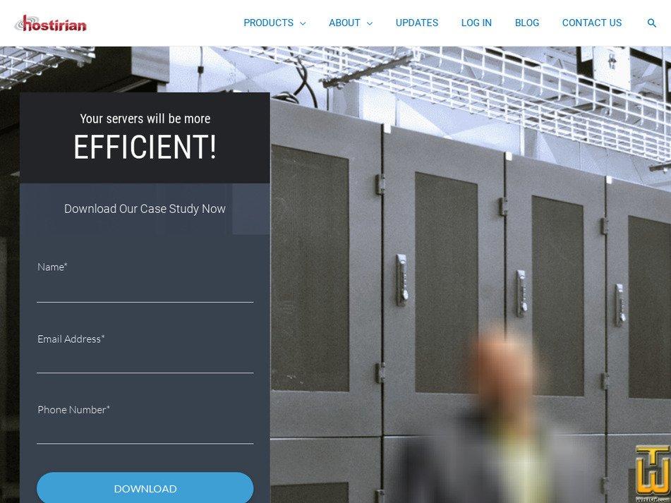 hostirian.com Screenshot