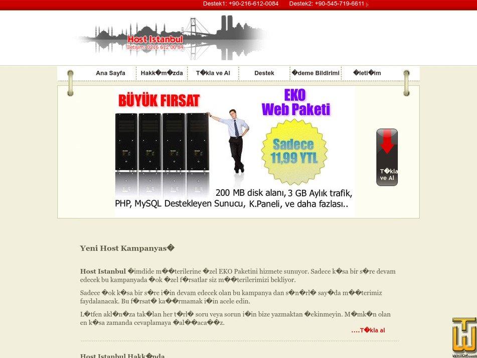hostistanbul.com Screenshot