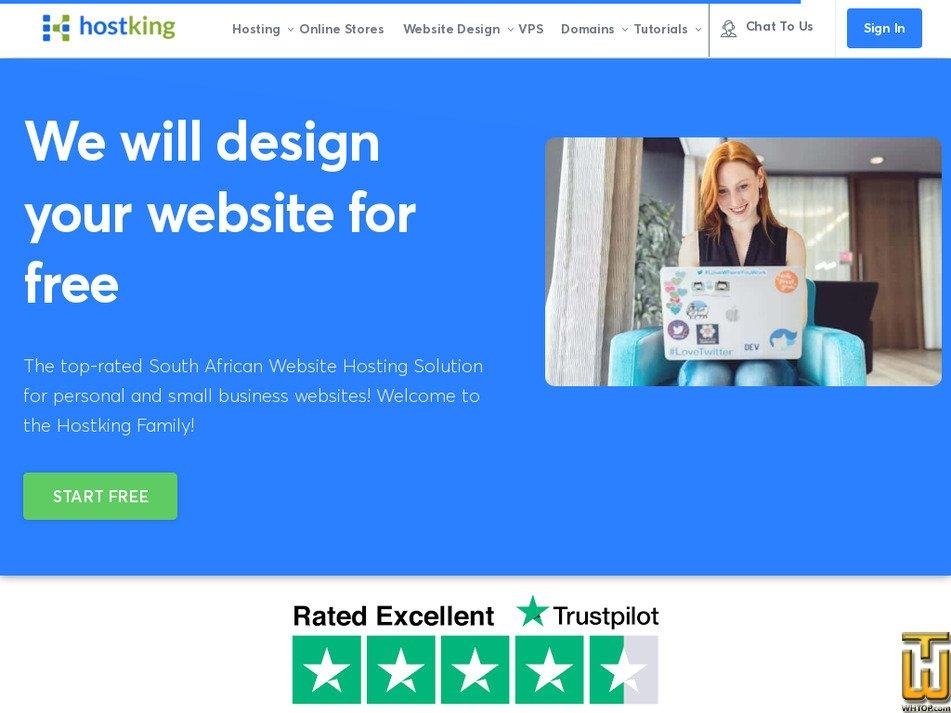 hostking.co.za screenshot