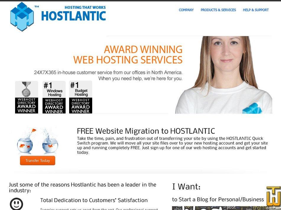hostlantic.com Screenshot