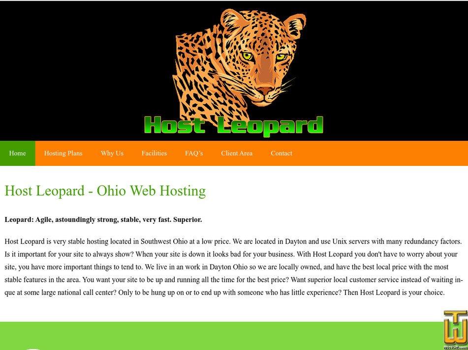 hostleopard.com Screenshot