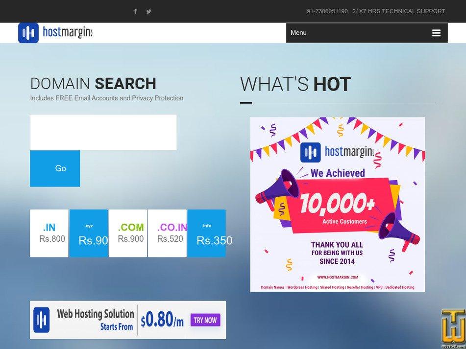 hostmargin.com Screenshot