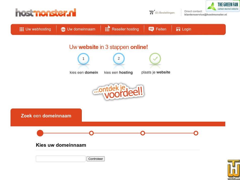 hostmonster.nl Screenshot