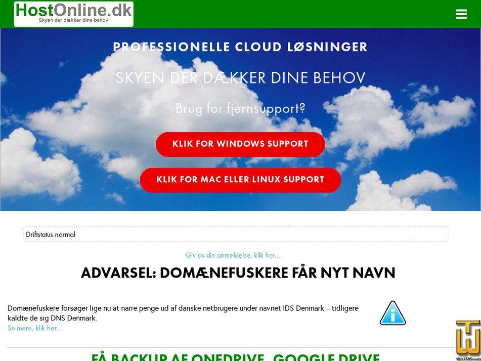 hostonline.dk Screenshot