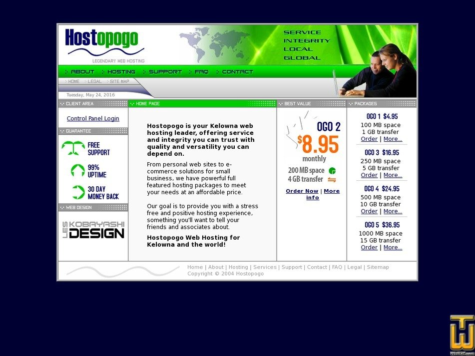 hostopogo.com Screenshot