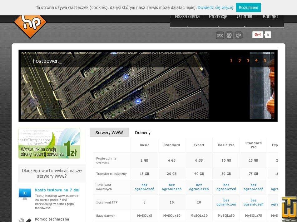 hostpower.pl Screenshot