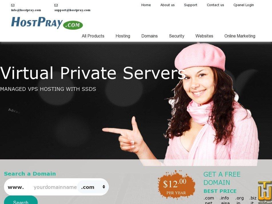 hostpray.com Screenshot