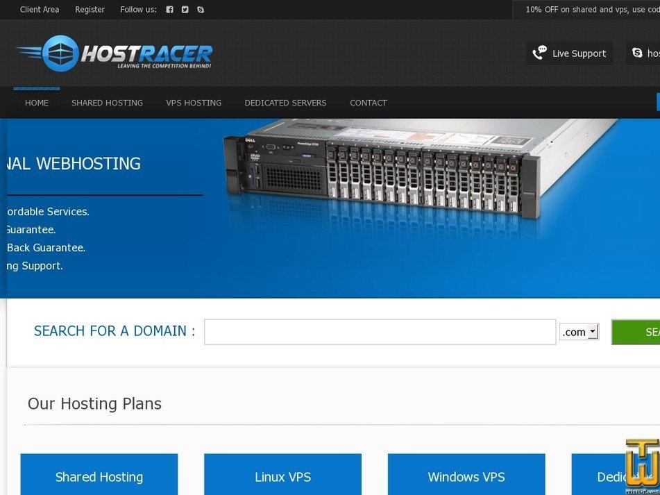 hostracer.com Screenshot
