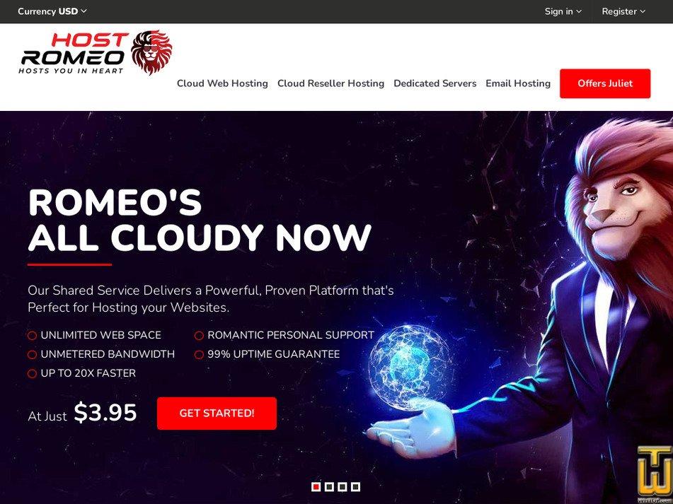 hostromeo.com Screenshot
